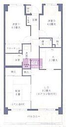プランジュール神大寺[2階]の間取り