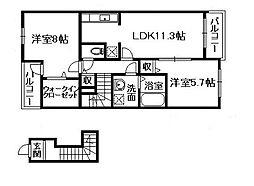 ガーデンエレガント I・II[2階]の間取り