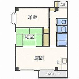 北海道札幌市東区北四十条東10丁目の賃貸マンションの間取り