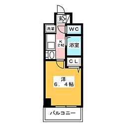 エステムコート博多・祗園ツインタワーファーストステージ[6階]の間取り