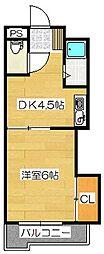 福岡県太宰府市石坂3丁目の賃貸アパートの間取り