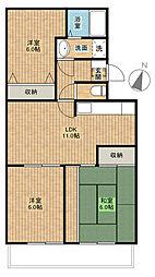第三葵マンション[1階]の間取り
