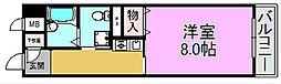 ラポール三国[2階]の間取り