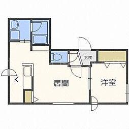 エクセレンス東札幌[4階]の間取り