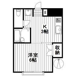 サンブリッヂコーポ(ZCK0606−102)[102号室]の間取り