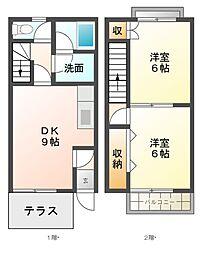 [テラスハウス] 愛知県江南市大字上奈良 の賃貸【/】の間取り