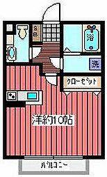 ビュームコーポ[1階]の間取り