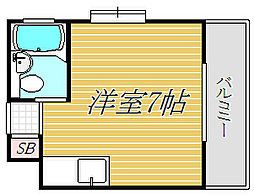 エクセル須賀[4階]の間取り