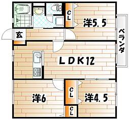 サンモール[2階]の間取り