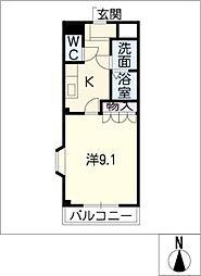 フルスパッセン B棟[2階]の間取り