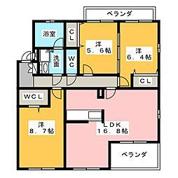 マンシッカ御器所[2階]の間取り