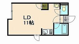 北海道小樽市長橋4丁目の賃貸アパートの間取り