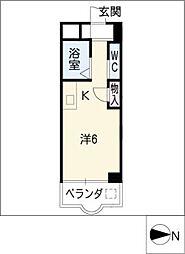 クレールショウワII[1階]の間取り