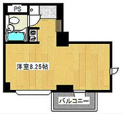サンピア堀江[4階]の間取り