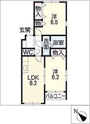 ネイステージA棟[1階]の間取り