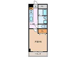 第6マンション 一八[2階]の間取り