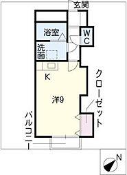 サンパティークB棟[2階]の間取り