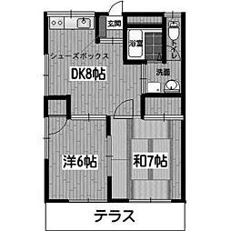 アルスK&TII[1階]の間取り
