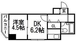 ライオンズシティ円山[406号室]の間取り