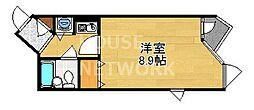 DETOM-1東山レディース[406号室号室]の間取り