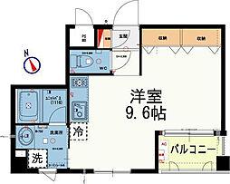 ライトシード浅草[1階]の間取り