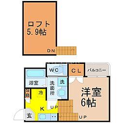 (仮称)北区志賀町三丁目Aコーポ[1階]の間取り