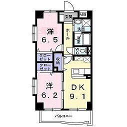 東京都荒川区西日暮里2丁目の賃貸マンションの間取り
