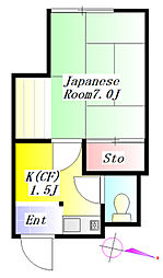 東洋ビル[3階]の間取り