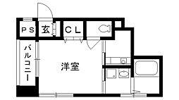 兵庫県西宮市城ケ堀町の賃貸マンションの間取り
