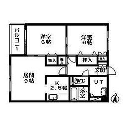 デベックス217[5階]の間取り