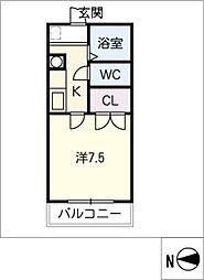 オークヴィラ三番館[2階]の間取り