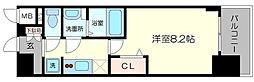 プレサンス心斎橋ソレイユ 2階1Kの間取り
