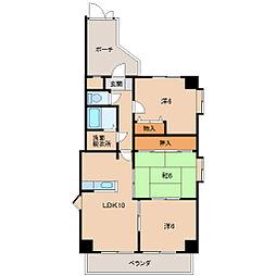 M・十三番丁[2階]の間取り