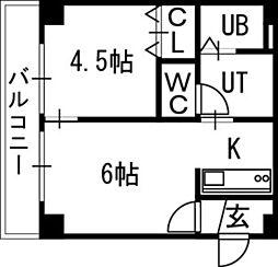 シティテラス南5条[00801号室]の間取り