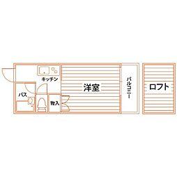 福岡県北九州市八幡西区折尾3丁目の賃貸マンションの間取り