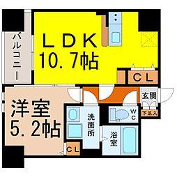 愛知県名古屋市千種区吹上1丁目の賃貸マンションの間取り