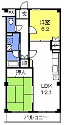 ルースコート戸田[102号室号室]の間取り