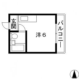 サニーマンション[303号室号室]の間取り