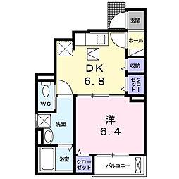 兵庫県神戸市北区藤原台中町3丁目の賃貸アパートの間取り