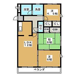 植田山ミルキーウェイ[1階]の間取り