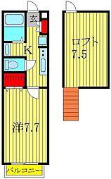セナリオフォルム柏II[2階]の間取り