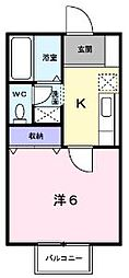 香川県丸亀市土器町東3丁目の賃貸アパートの間取り