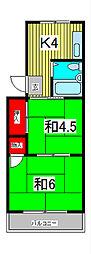 ブライズ6[1階]の間取り