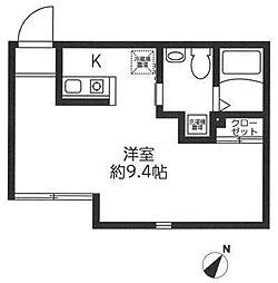 レジディア代々木[4階]の間取り