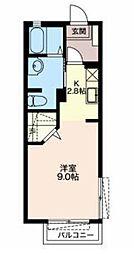 静岡県富士市中島の賃貸アパートの間取り