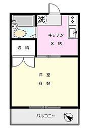 妙蓮寺コーポ[105号室]の間取り