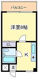 アビコサンク[403号室]の間取り