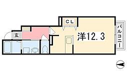 兵庫県姫路市大津区恵美酒町1丁目の賃貸アパートの間取り