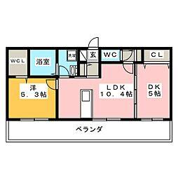 D−room今保 B棟[1階]の間取り
