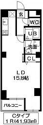 ドミール長者町(増築棟)[208号室]の間取り